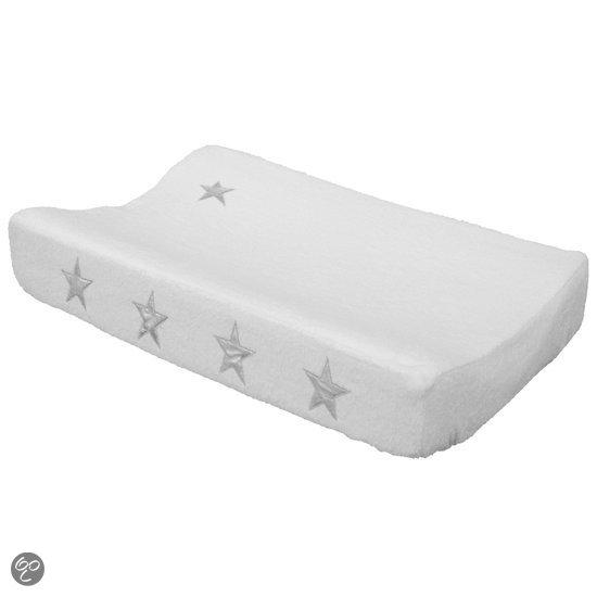 taftan verschoonkussenhoes sterren zilver wit baby. Black Bedroom Furniture Sets. Home Design Ideas