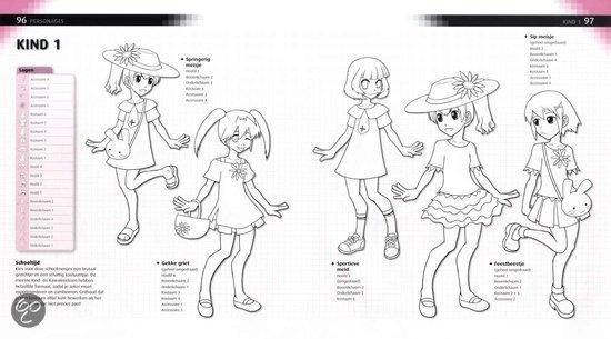 Digitaal Mangameisjes Tekenen