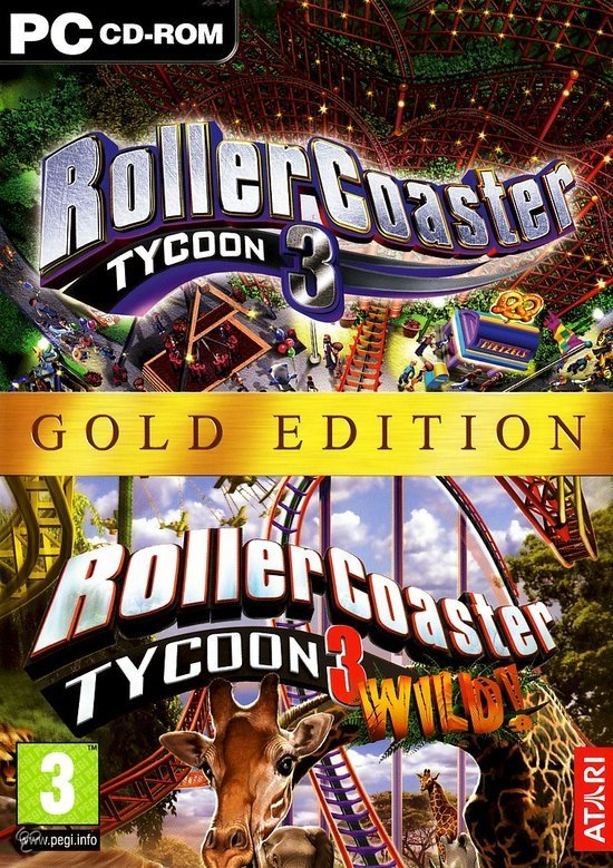 Rollercoaster Tycoon 3 - Gold Edition (Volledig Engelstalig)