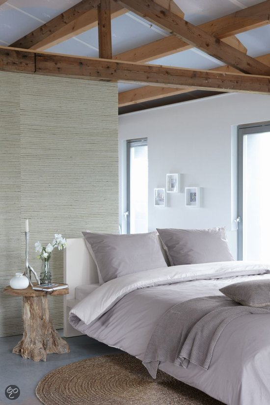 walra uni dekbedovertrek grijs lits jumeaux 240x200 220 cm 2 slopen. Black Bedroom Furniture Sets. Home Design Ideas