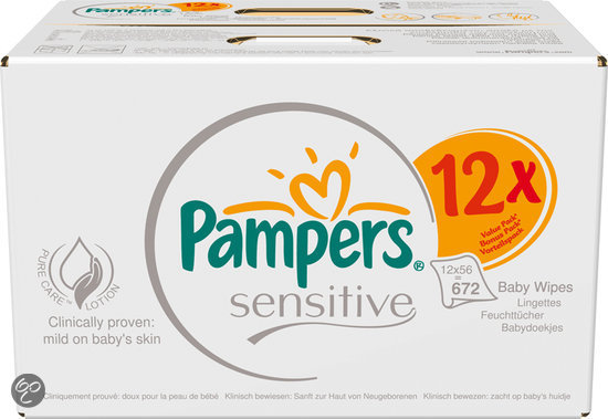 Pampers Sensitive - Doekjes Navulpak 12x56st