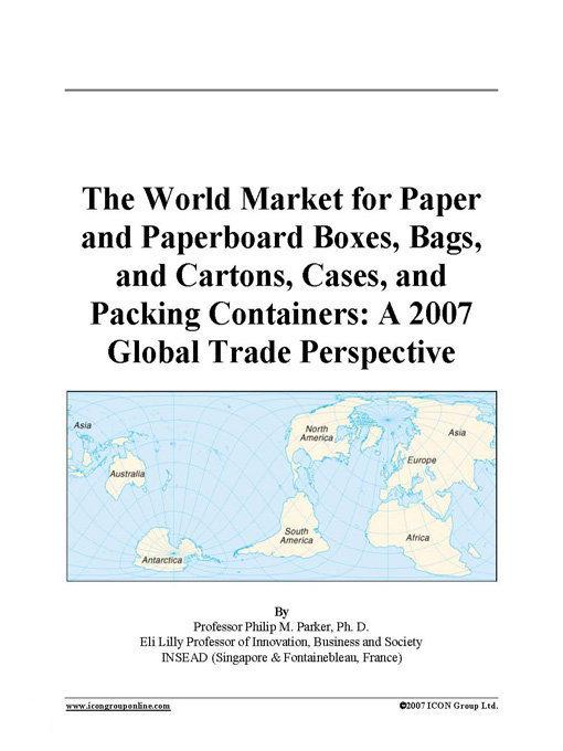 global paper and paperboard container and Industry research on global paper and paperboard container and packaging market 2015-2019 of 91 pages is now available with sandlerresearchorg for prices starting at us$ 2500 under advanced.