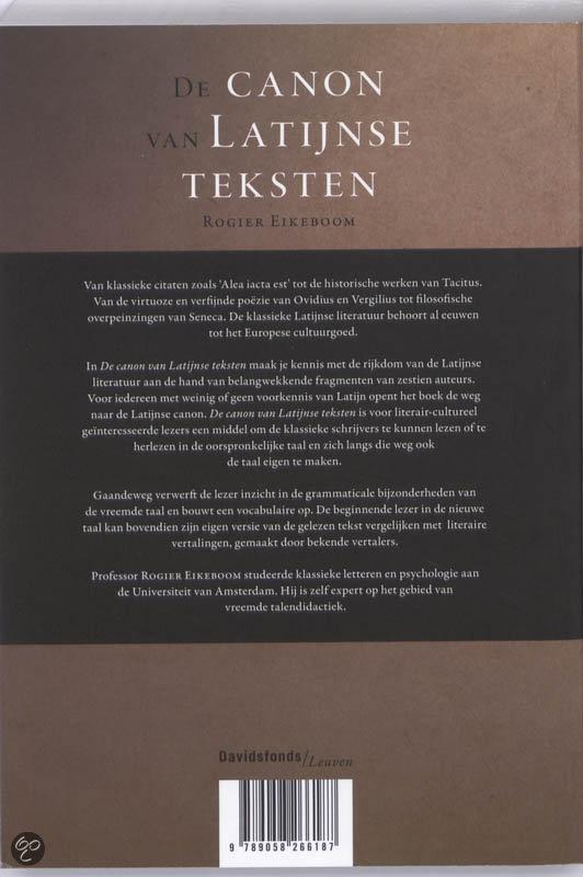 Seneca Latijnse Citaten : Bol de canon van latijnse teksten r