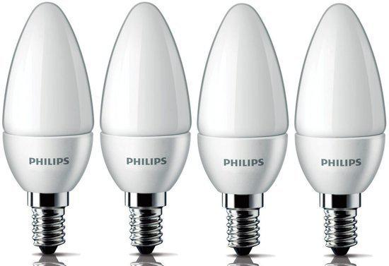 philips led lamp e14 4w 25w 4 stuks. Black Bedroom Furniture Sets. Home Design Ideas