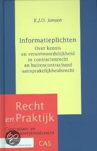 Recht en Praktijk Contractenrecht 5 - Informatieplichten