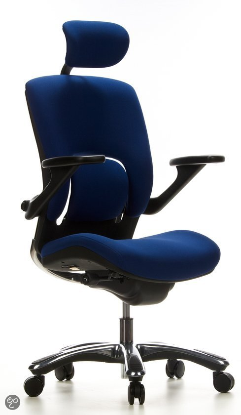 hjh office Vapor Lux - Bureaustoel - Blauw in Impe