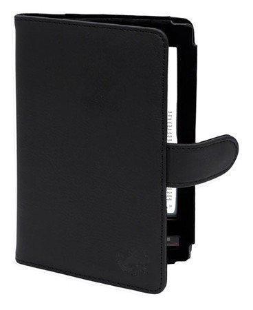 Gecko Covers Luxe Lederen Beschermhoes voor Sony Reader Wi-Fi (PRS-T1) - Zwart