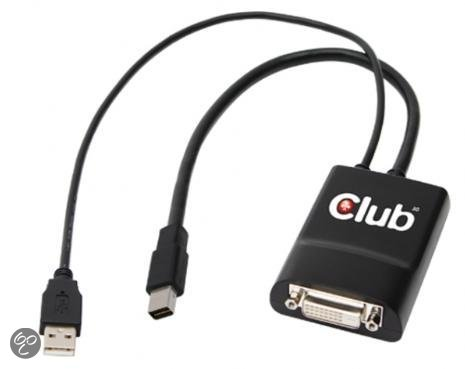 Club3D Mini DisplayPort naar Active DVI Dual Link 330MHz Stereo 3D Gaming Kabel