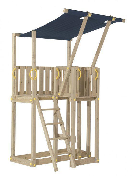 blue rabbit mezzanine houten speeltoestel kit inclusief kbt aanbouwglijbaan 300 cm. Black Bedroom Furniture Sets. Home Design Ideas