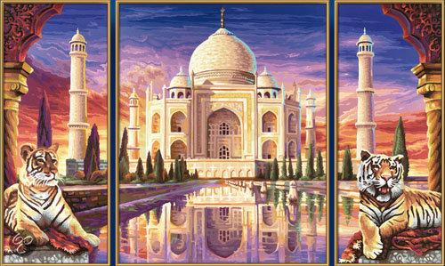 Schilderen op Nummer - Taj Mahal in Buvrinnes