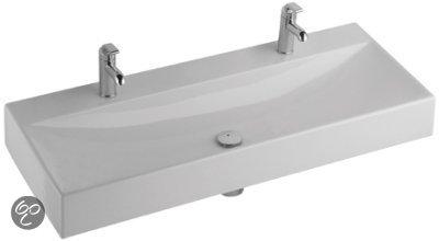 bol.com  Sphinx Serie 420 Dubbele Wastafel - 120 x 48,4 cm - Keramiek ...