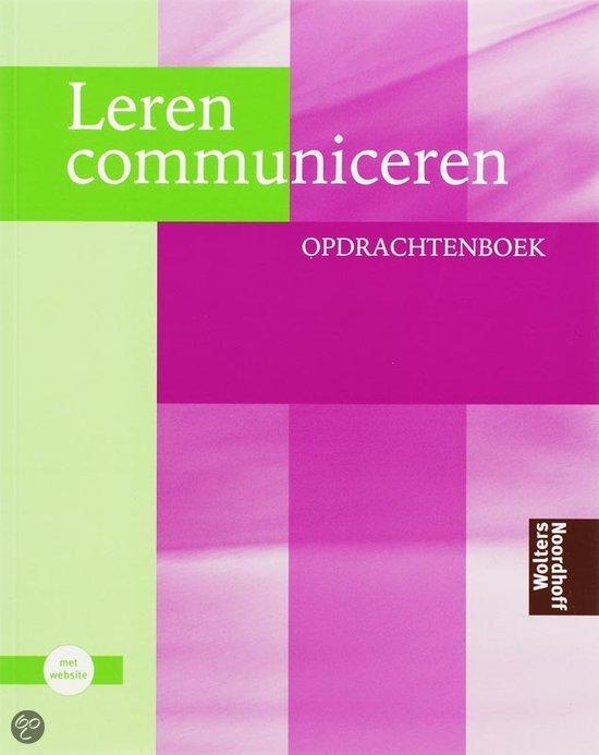 Leren communiceren / Opdrachtenboek