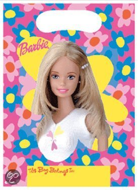 Barbie uitdeelzakjes 6 stuks in Wolfersveen