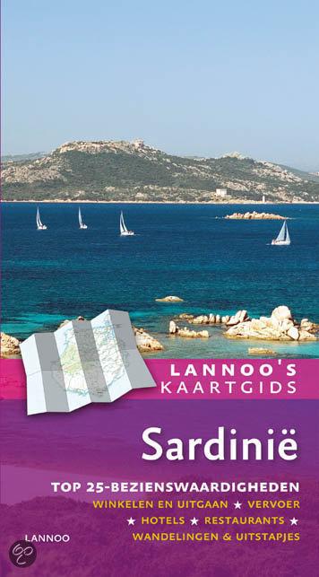Lannoo's kaartgids Sardinie  + Plattegrond