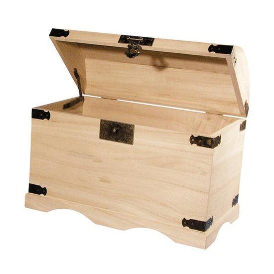 houten kist 37 cm. Black Bedroom Furniture Sets. Home Design Ideas