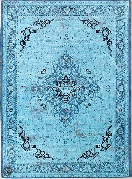 bol.com : Louis de Poortere Recoloured Vloerkleed Vintage Heriz Azur ...