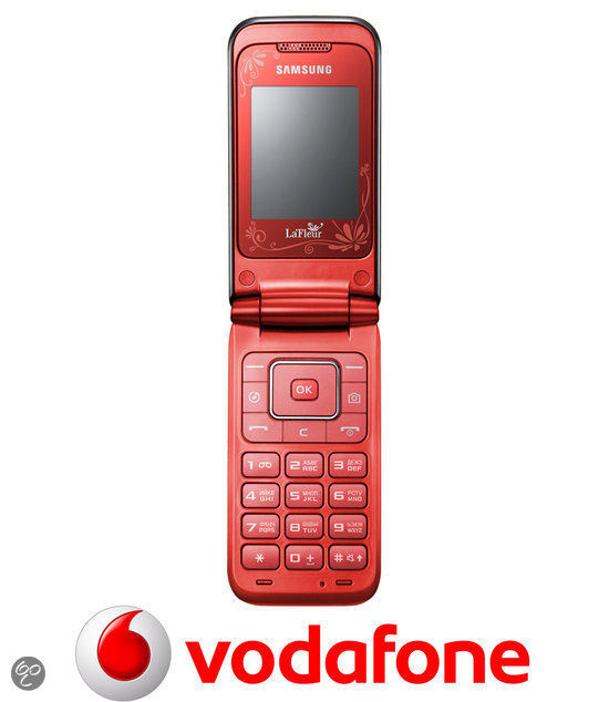 Samsung E2530 - Zwart/rood - Vodafone prepaid telefoon