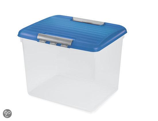 Curver Optima Opbergbox- 52 l - Kunststof - Transparant / Blauw