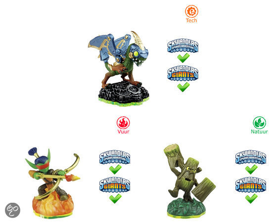Skylanders Spyro's Adventure Triple Pack Drobot, Stump Smash, Flameslinger Wii + PS3 + Xbox360 + 3DS + Wii U + PS4