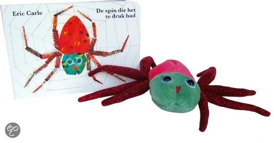 De spin die het te druk had + pluchen spin