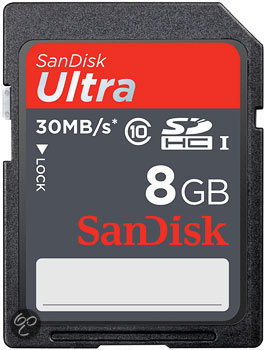 Sandisk Ultra SD kaart 8 GB