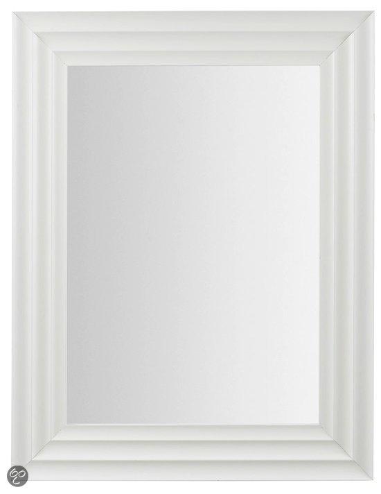 Laforma licchi spiegel hout 89x69 cm wit - Spiegel cm ...