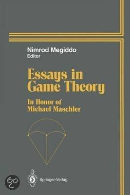 Essays on Game Theory by John F. Nash. $65.00. Publisher: Edward Elgar ...