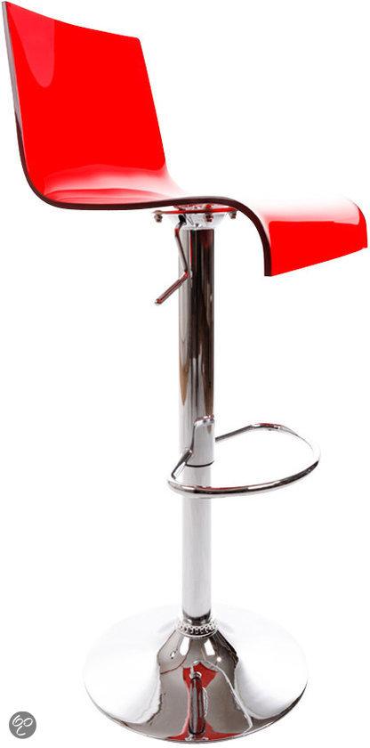 kokoon barkruk plexi rood wonen. Black Bedroom Furniture Sets. Home Design Ideas