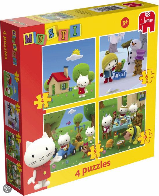 Jumbo 4-in-1 Puzzel - Musti
