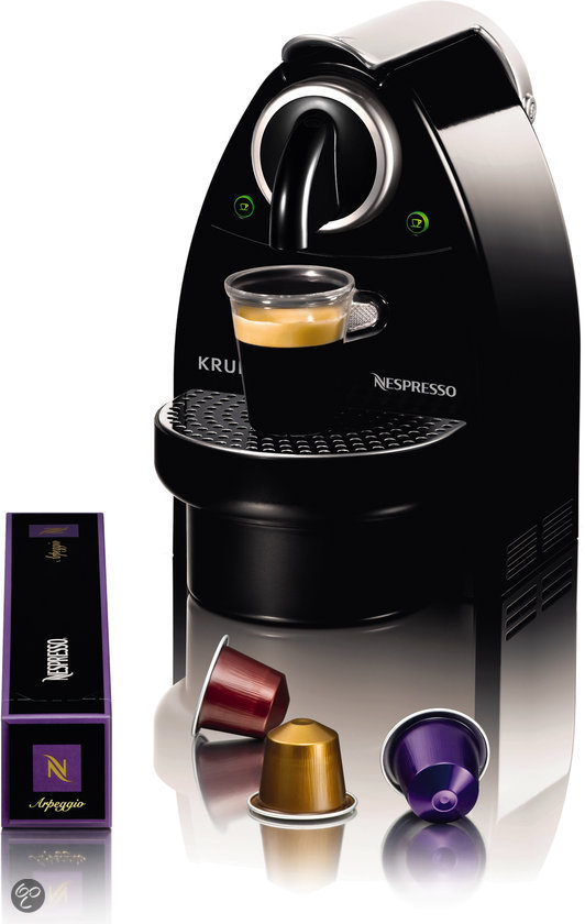 2 x krups nespresso essenza coffee machine black espresso machine ebay. Black Bedroom Furniture Sets. Home Design Ideas