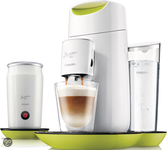 Philips Senseo Twist & Milk HD7874/10 Koffiepadmachine - Citroengeel met Wit