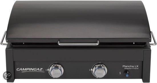 Campingaz plancha gasbarbecue lx koken en tafelen - Plancha trolley gas met deksel ...