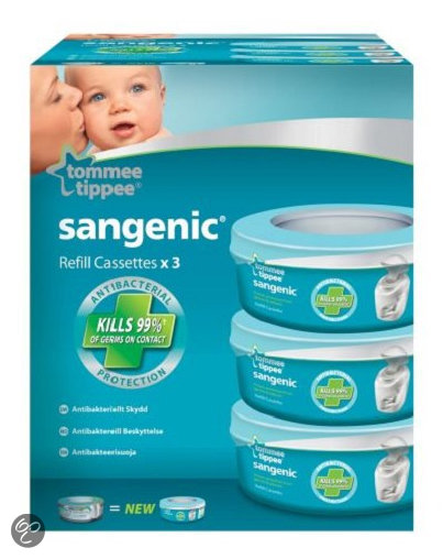 Tommee Tippee - Sangenic Hygiene Plus MK4 Navulling - Wit 3 stuks