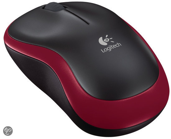 Logitech Wireless Mouse M185 - Rood
