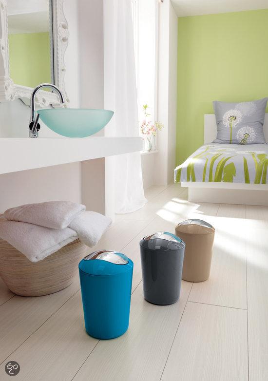 Kleine wolke badkamer emmer turquoise 3 liter wonen - Badkamer turkoois ...