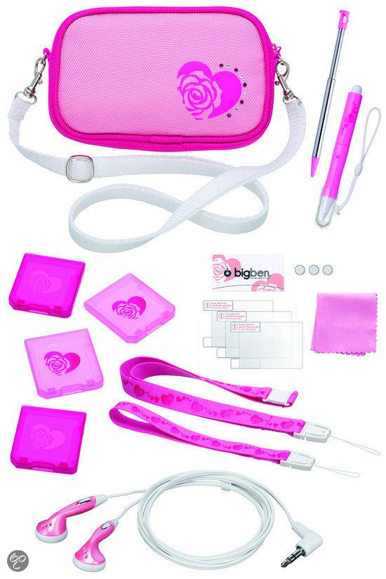 Bigben Accessoirepakket Roze 3DS + Dsi
