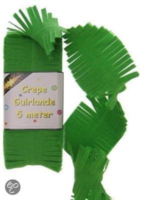 Crepe papier slinger groen in Boveneinde