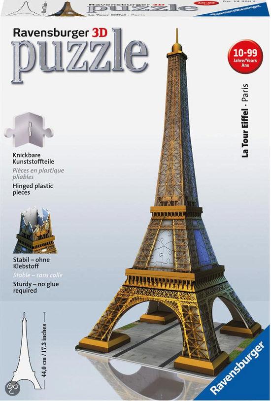 Ravensburger 3D Puzzel Eiffeltoren - 216 Stukjes