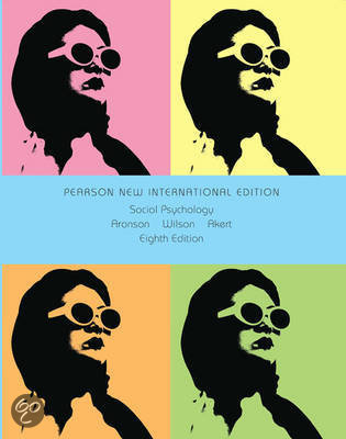 Social Psychology: Pearson  International Edition