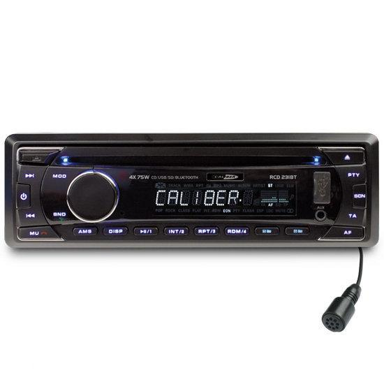 caliber rcd231bt autoradio met bluetooth cd speler usb en sd elektronica. Black Bedroom Furniture Sets. Home Design Ideas