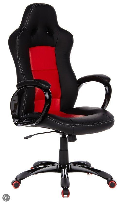 hjh office Pace 300 - Bureaustoel Bureaustoel - PU leder - Rood / zwart in Hann?che