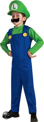 Super Mario Luigi - Kostuum - Maat M - Groen