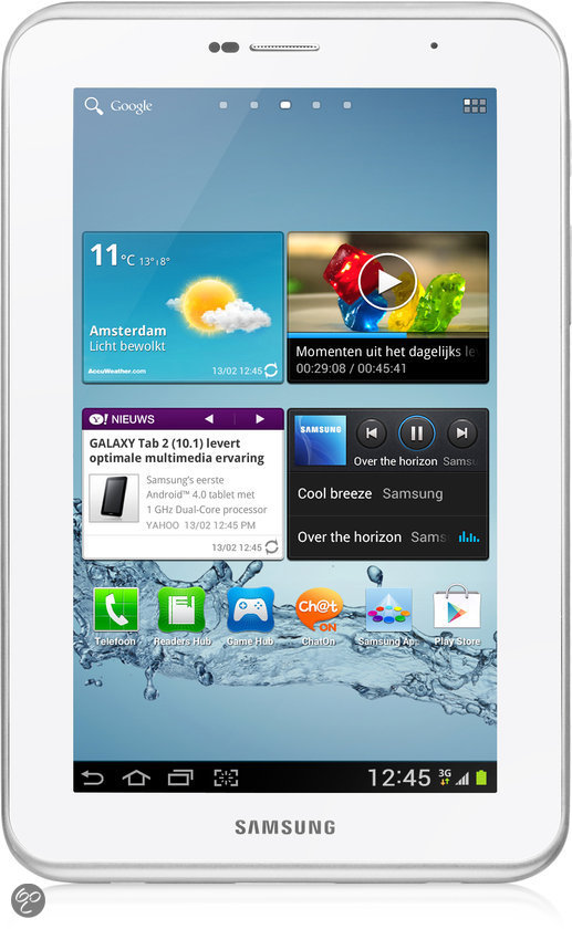 Samsung Galaxy Tab 2 7.0 (P3100) - WiFi en 3G / 8GB - Wit