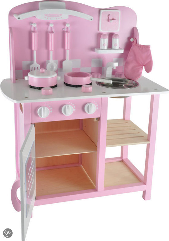 Speelgoed Keuken Tweedehands : bol.com Houten kinderkeuken roze Speelgoed