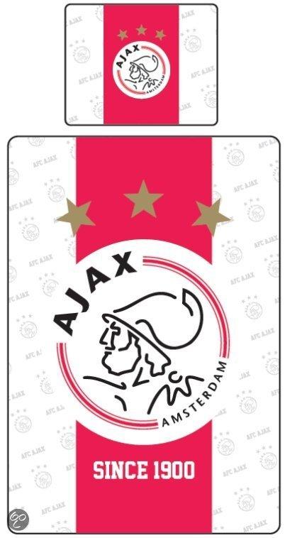 Dekbed ajax rood wit since 1900 140x200 cm 1 for Ajax kussen