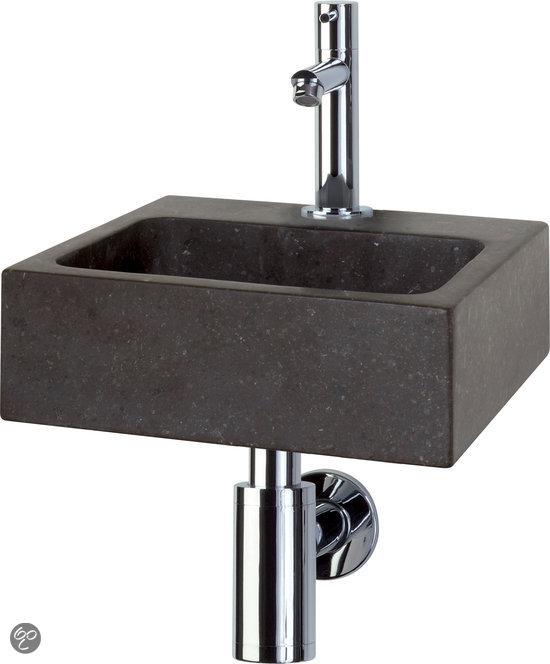 bolcom  Differnz Square Fontein Toilet  Set  Fontein 27,5 x 27 cm inclusi # Wasbak Diep_205925