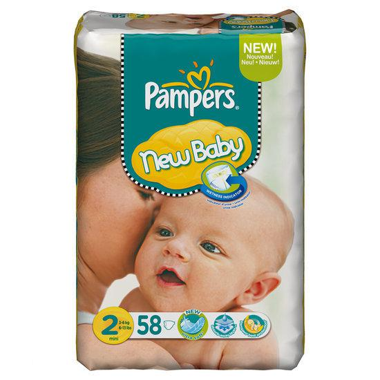 pampers new baby luiers maat 2 mini dry max 58st. Black Bedroom Furniture Sets. Home Design Ideas