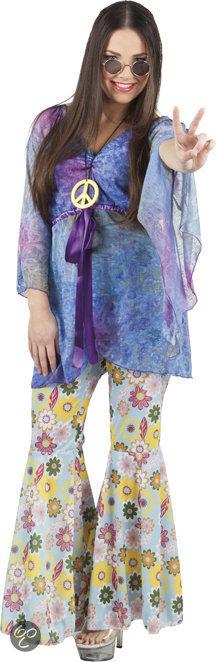 Hippy Bloemenvrouw - Kostuum - Maat 40/42 in Hamrik