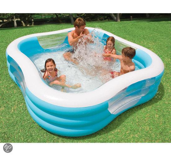 intex familie zwembad 229x229cm intex speelgoed