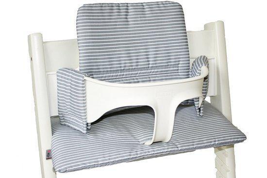 Kussenset ukje voor stokke tripp trapp grijs witte streep zitkussen - Witte trap grijs ...